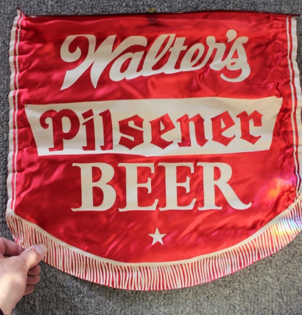 Walter's Pilsner Beer Banner in Red