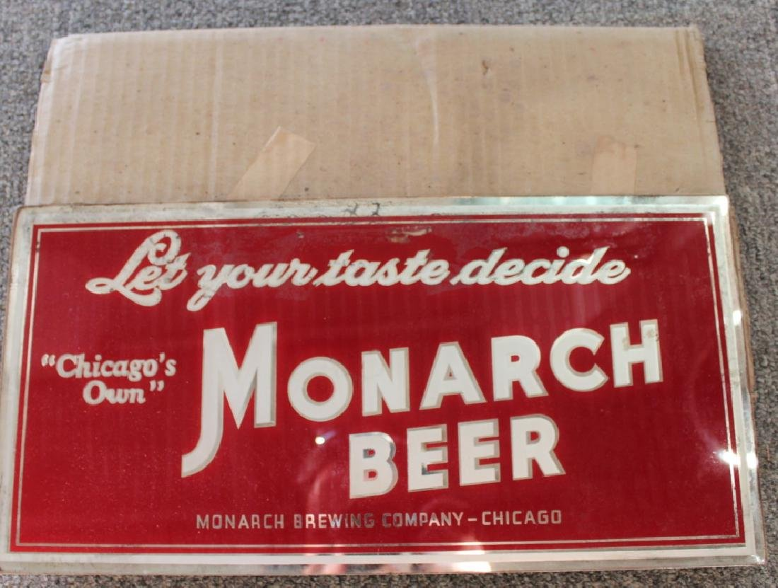 Monarch Beer Sign