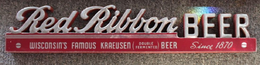 Red Ribbon Beer - Sign