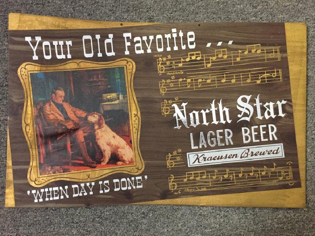 North Star Lager Beer - Sign