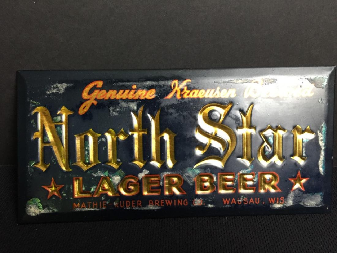 North Star Lager Beer Sign
