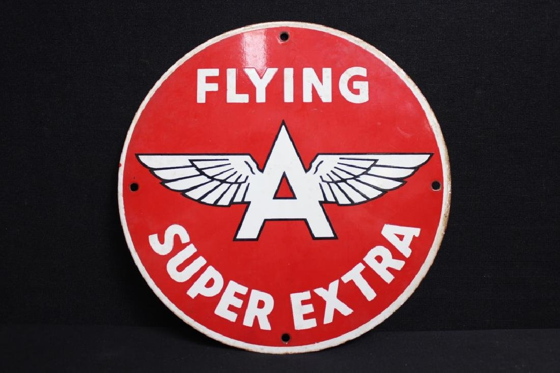 Flying A Super Extra Sign