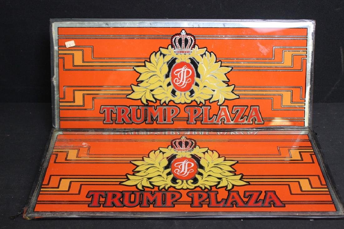 2 Trump Plaza Glass Casino Signs