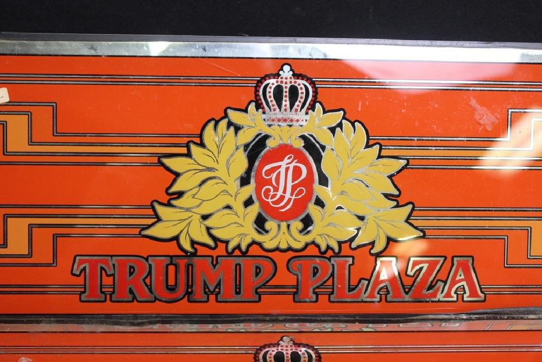 2 Trump Plaza Glass Casino Signs - 2