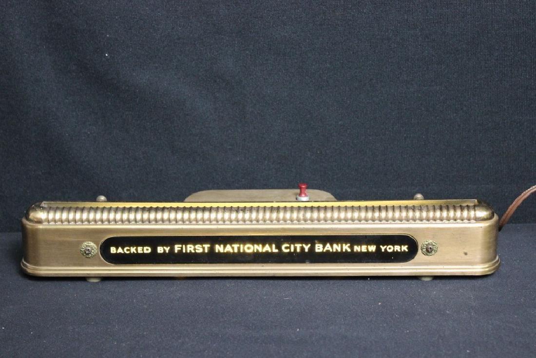 Brass Edge Lit  Nameplate Holder Vintage