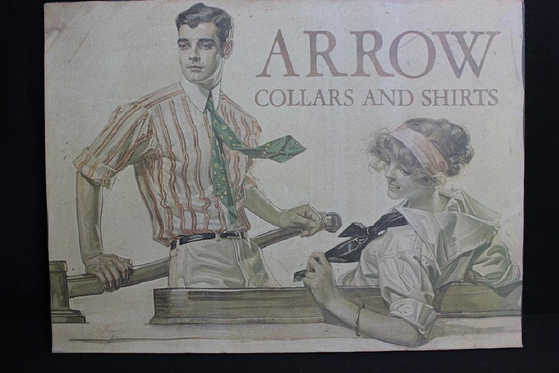 Vintage ARROW Collars & Shirts Sign