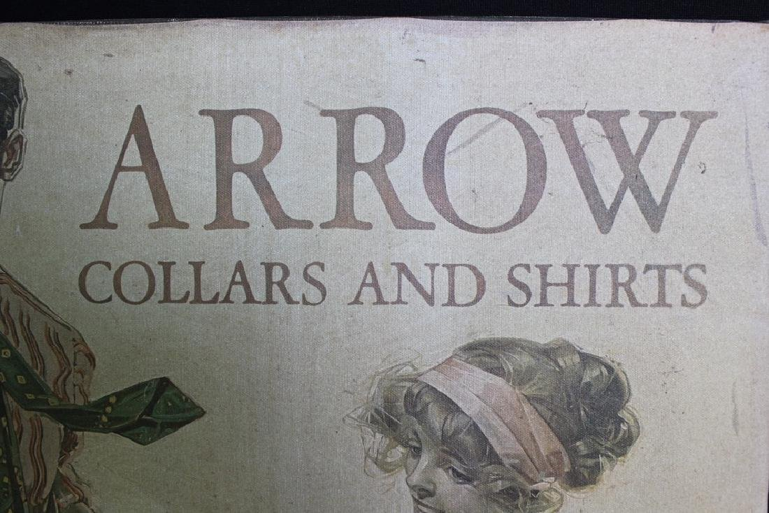 Vintage ARROW Collars & Shirts Sign - 3