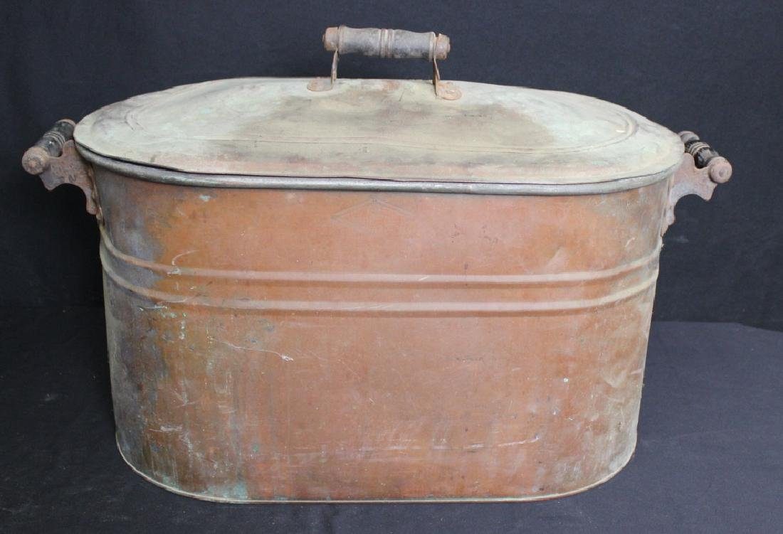 Large Copper Boiler by Bamberger & Co.