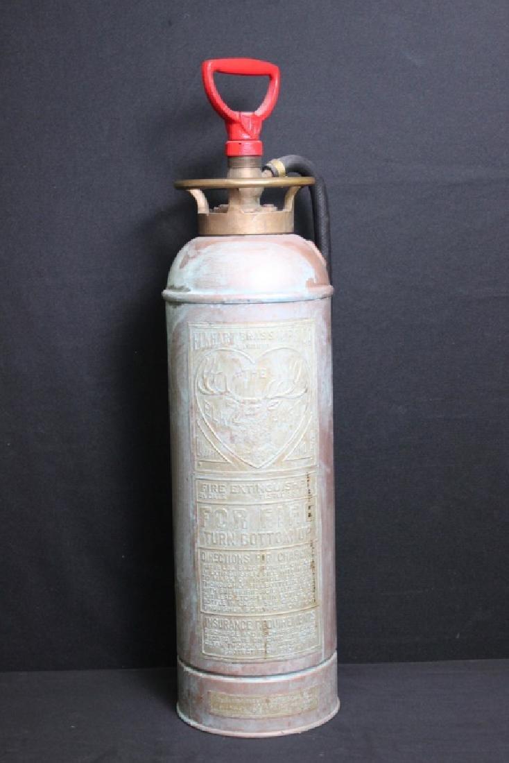 Antique Copper Fire Extinguisher