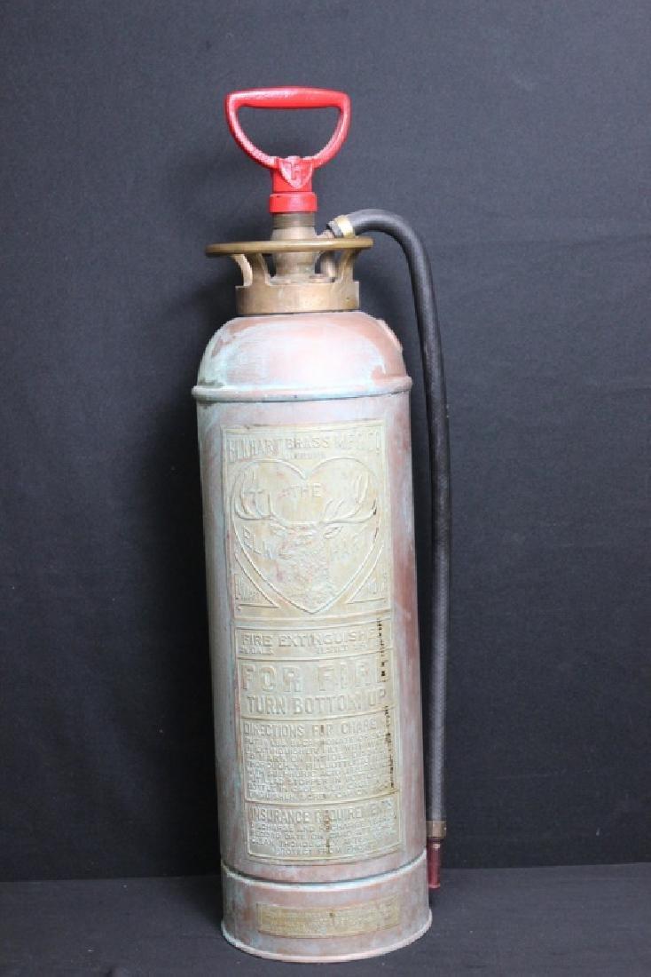 Antique Copper Fire Extinguisher - 2