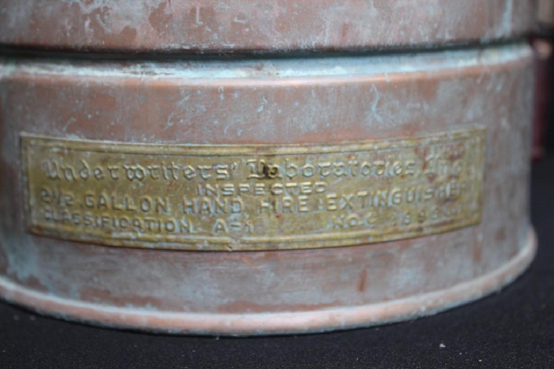 Antique Copper Fire Extinguisher - 4