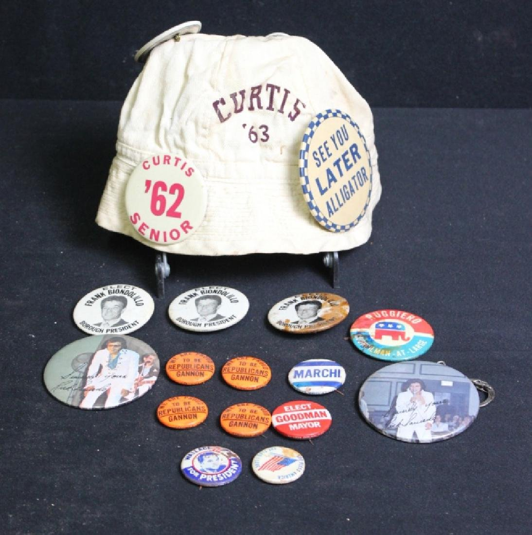 22 Vintage Political Pins