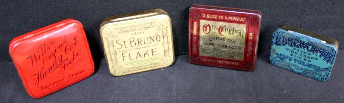 Tobacco Tins, Lot of 4 Vintage