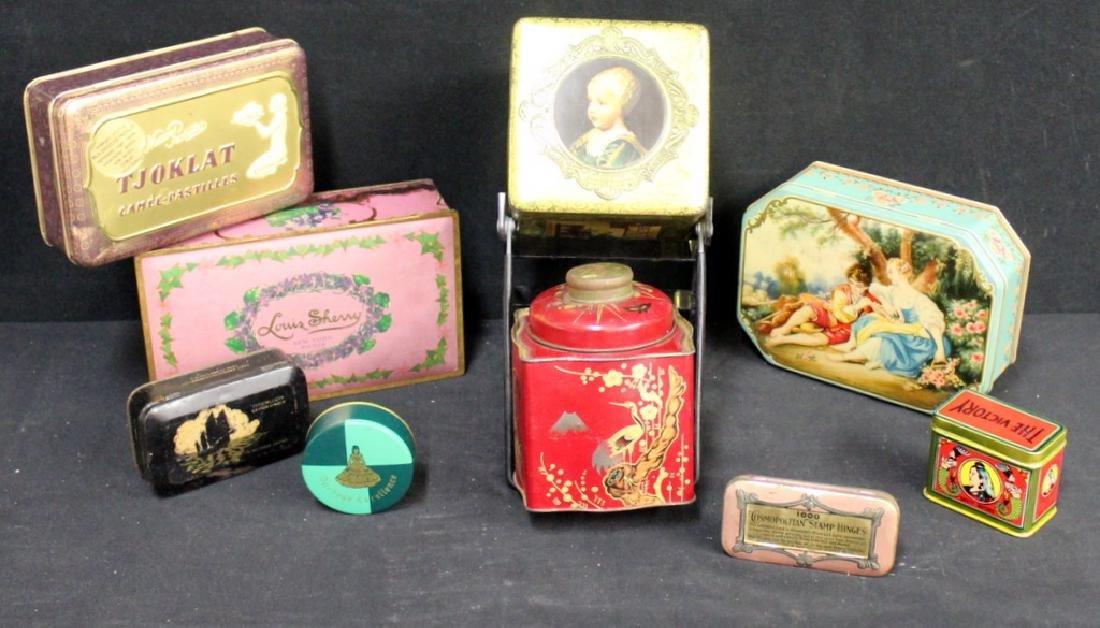 Vintage Tins, Lot of 9