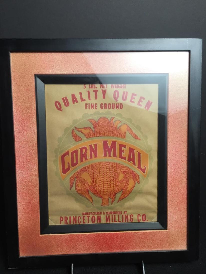 Quality Queen Fine Ground Corn Meal Bag in Frame