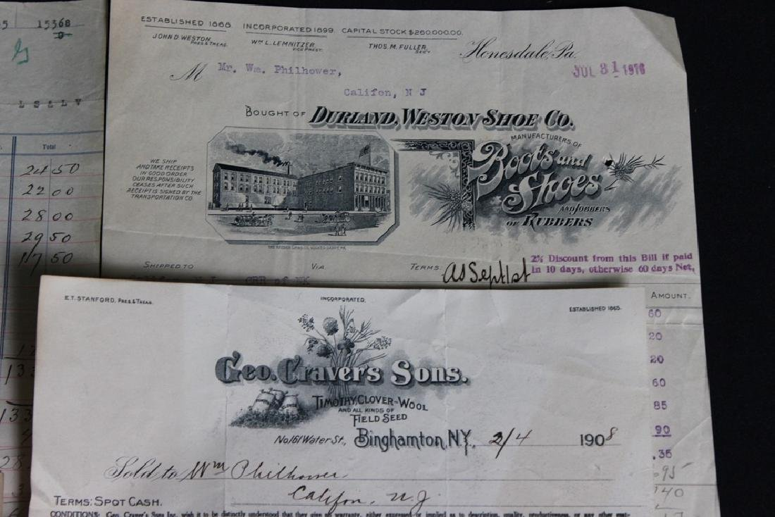 8 Store Receipts 1903-1919 - 3