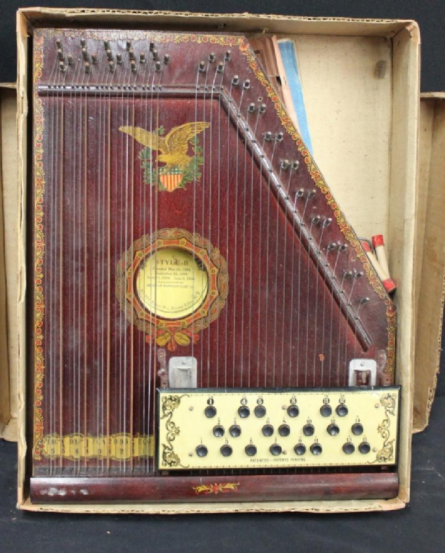 American Madolin Harp in Box Ca. 1900