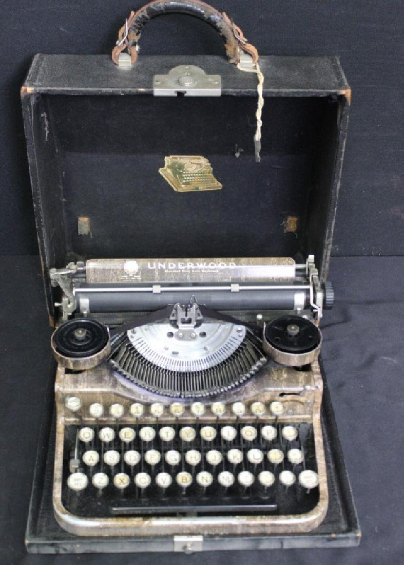 Antique UNDERWOOD Portable 4 Bank Typewriter