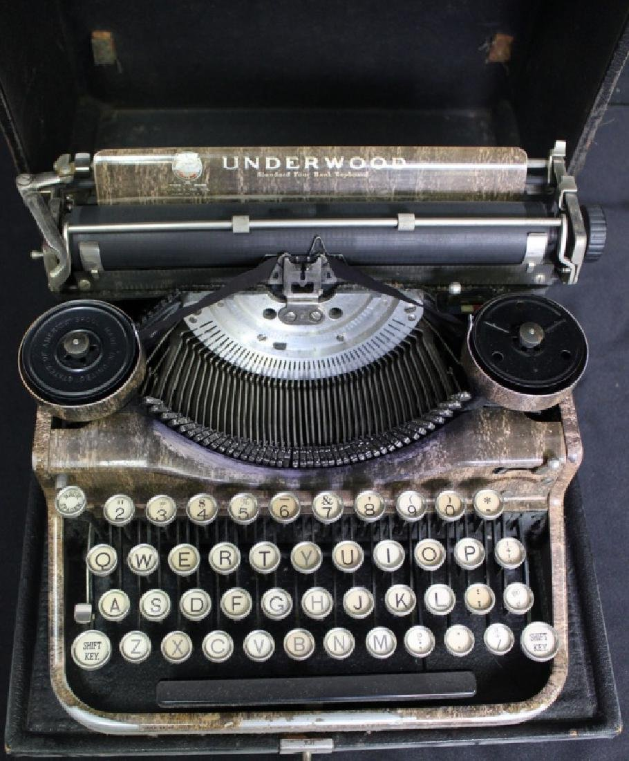 Antique UNDERWOOD Portable 4 Bank Typewriter - 2