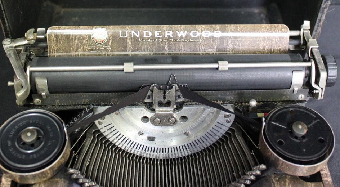 Antique UNDERWOOD Portable 4 Bank Typewriter - 3