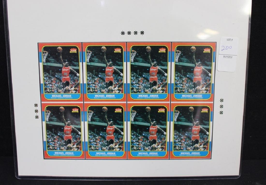 Michael Jordan Fleer  Uncut Sheet of 8 Cards