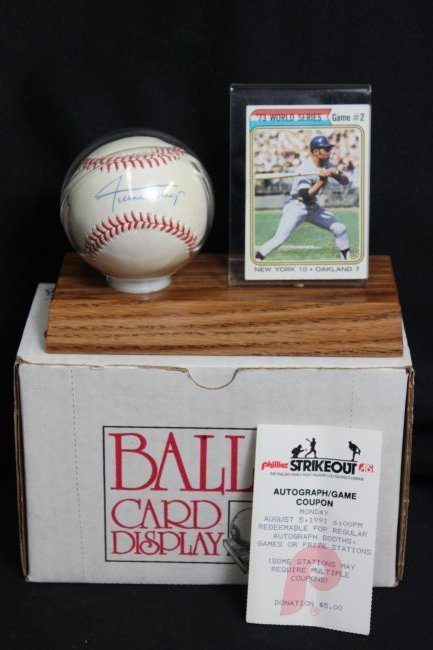 Willie Mays Signed Ball, etc...