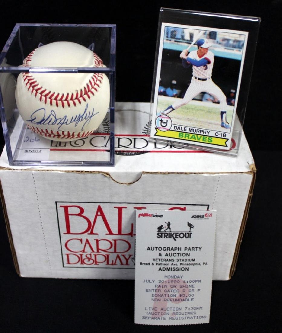 Dale Murphy Signed Ball, etc...