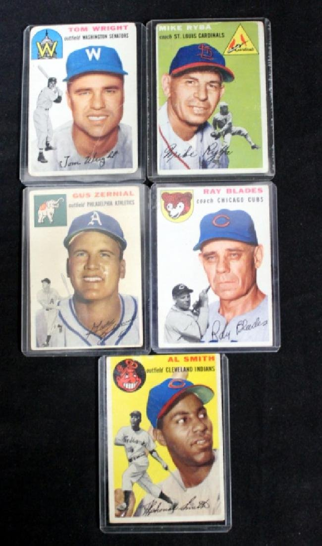 5 1950's Baseball Cards