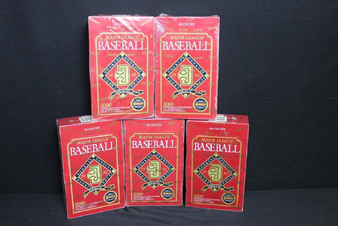 5 Sealed 1992 DONRUSS Boxes