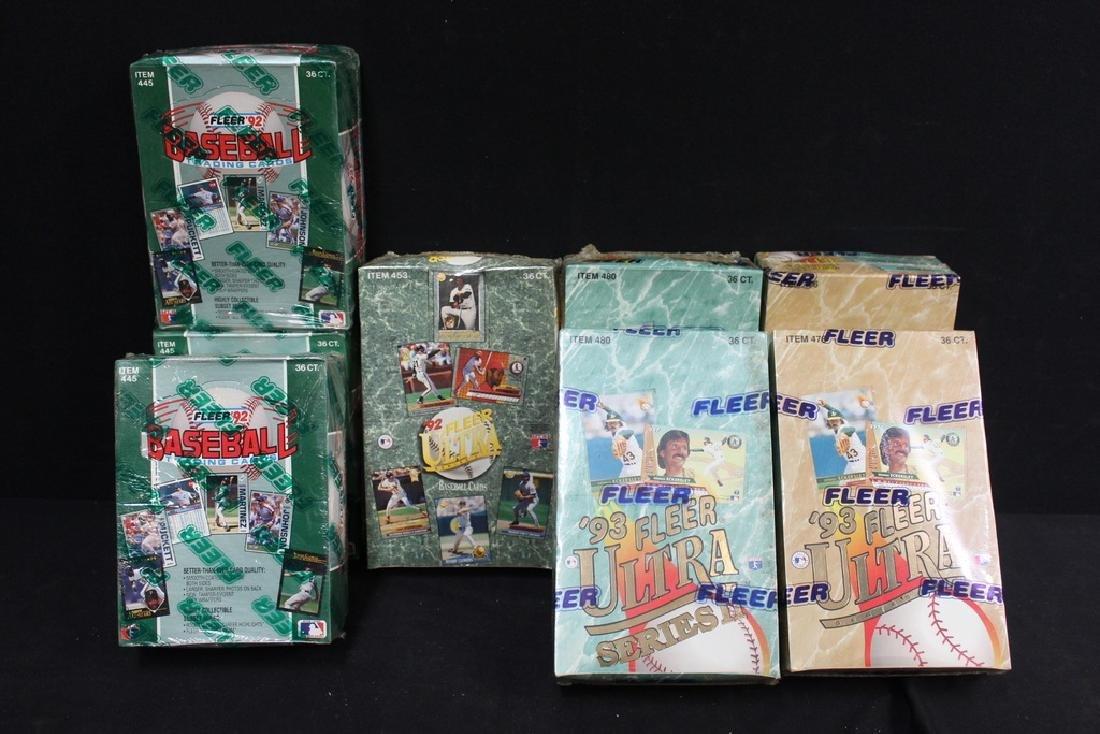 8 Boxes of Sealed FLEER Baseball Cards