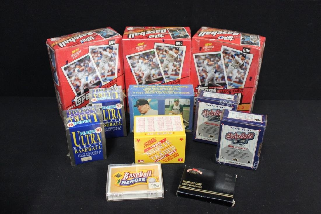 Assorted Lot of Baseball Cards, all NIB
