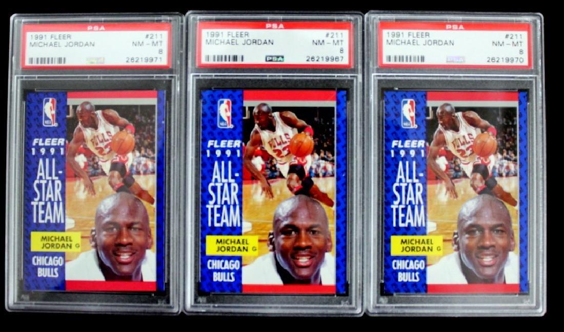 3 1991 Fleer Michael Jordan #211 Cards