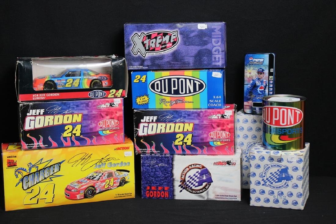 9 NIB Jeff Gordon Racing Vehicles