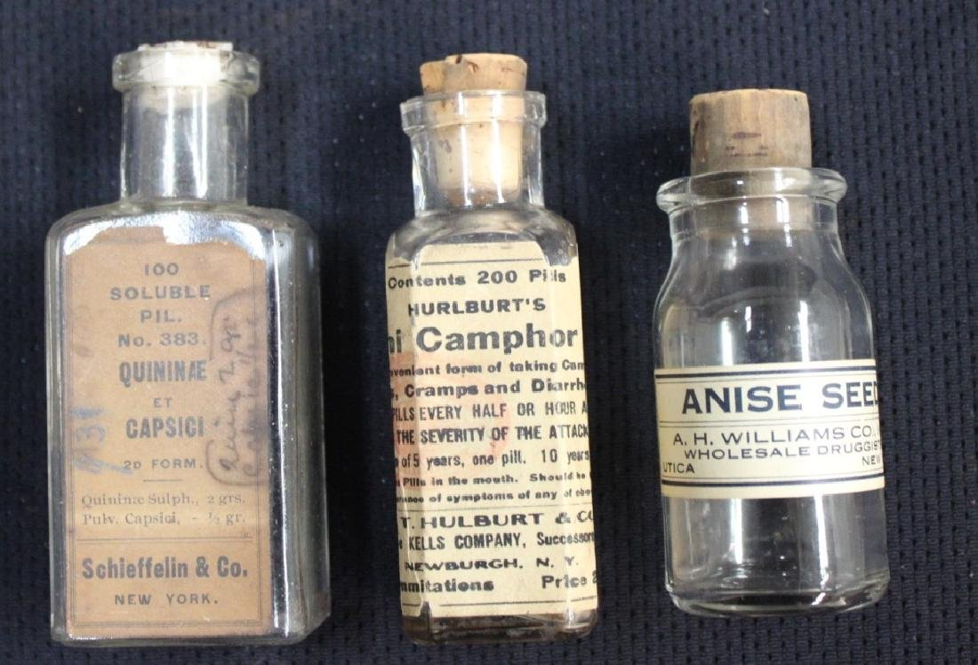 Grouping of Clear Medicine Bottles - 3