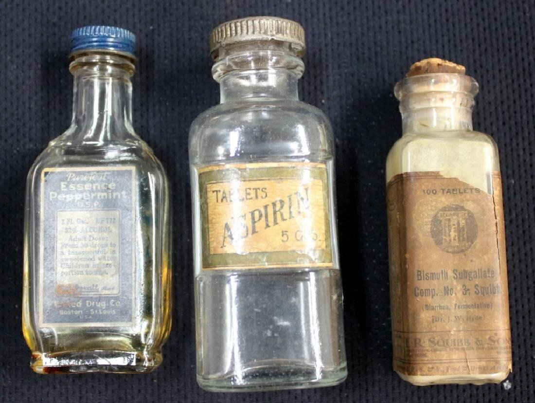 Grouping of Clear Medicine Bottles - 4