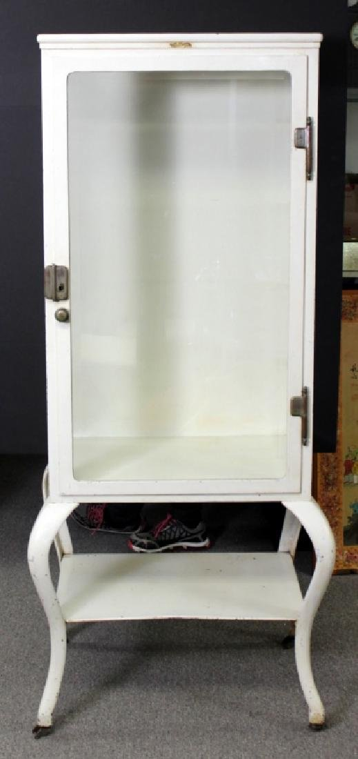 1920's Vintage Medical Cabinet with Cabriole Legs