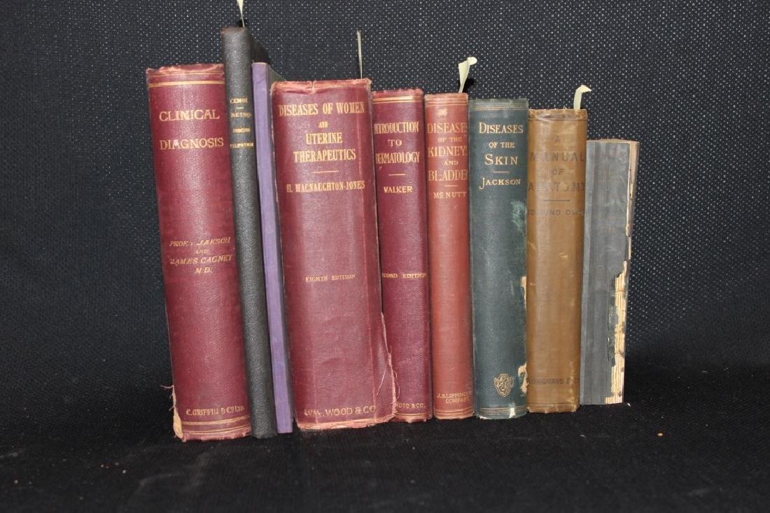 9 Antique Medical Books