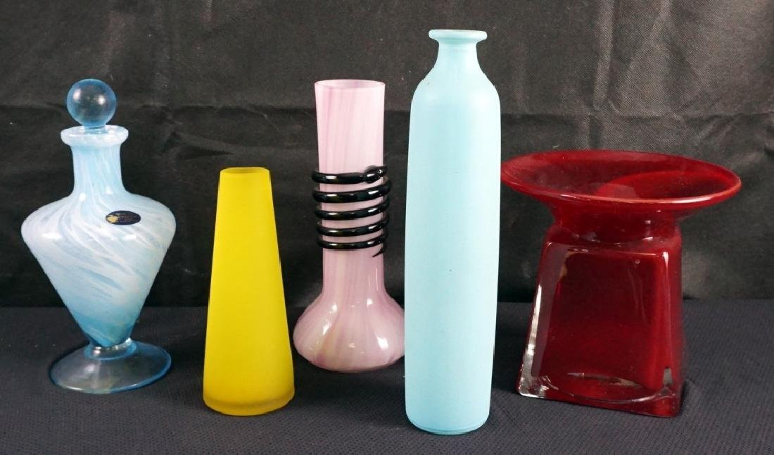 5 Pieces of Art Glass