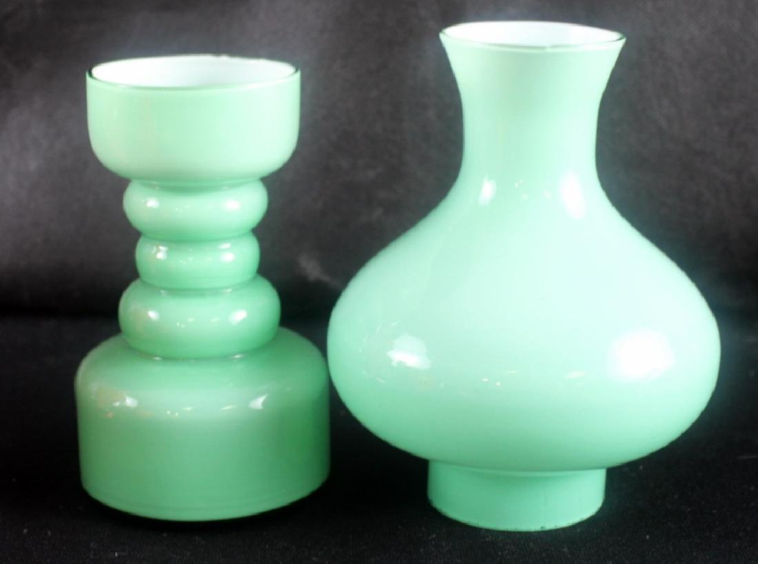 7 Art Glass Czech Vintage Vases - 8