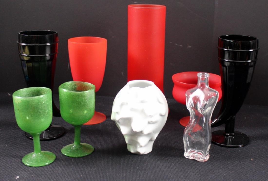 9 Art Glass, Czech Vintage Glassware