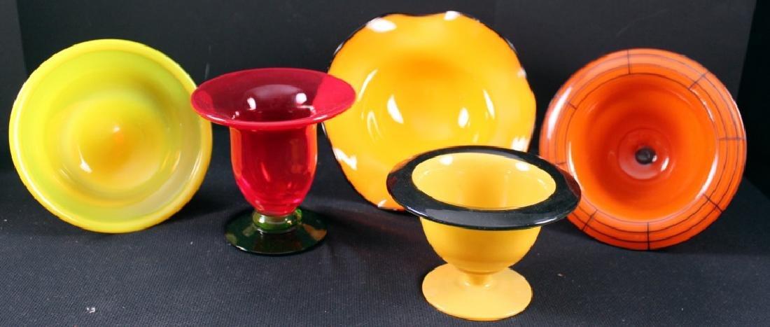 Art Glass Czech Vintage Bowls (5)