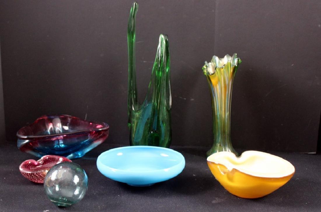 Art Glass Czech Vintage Vases & Bowls (7)