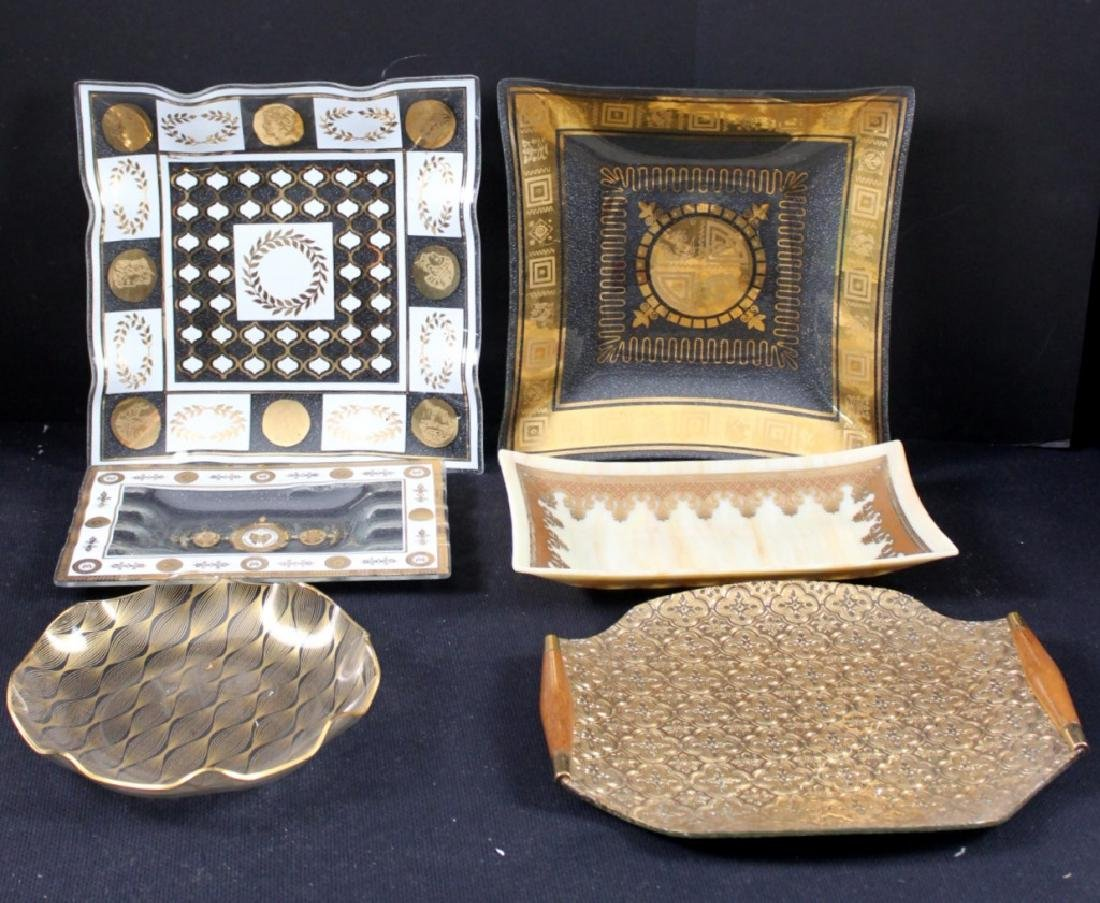 6 Mid-Century Glass Trays, Georges Briard, Belle
