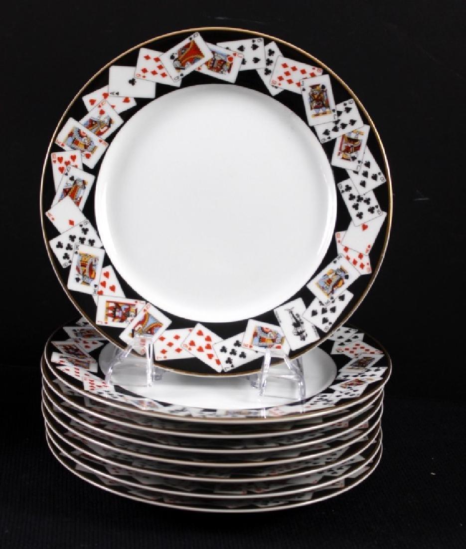 6 Tiffany & Co. Playing Card Dessert Plates