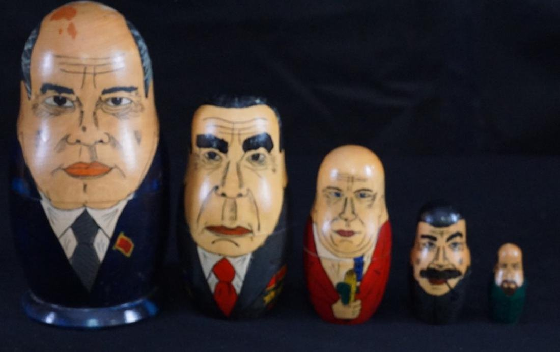 Russian Soviet USSR Leaders Nesting Dolls Set of 5