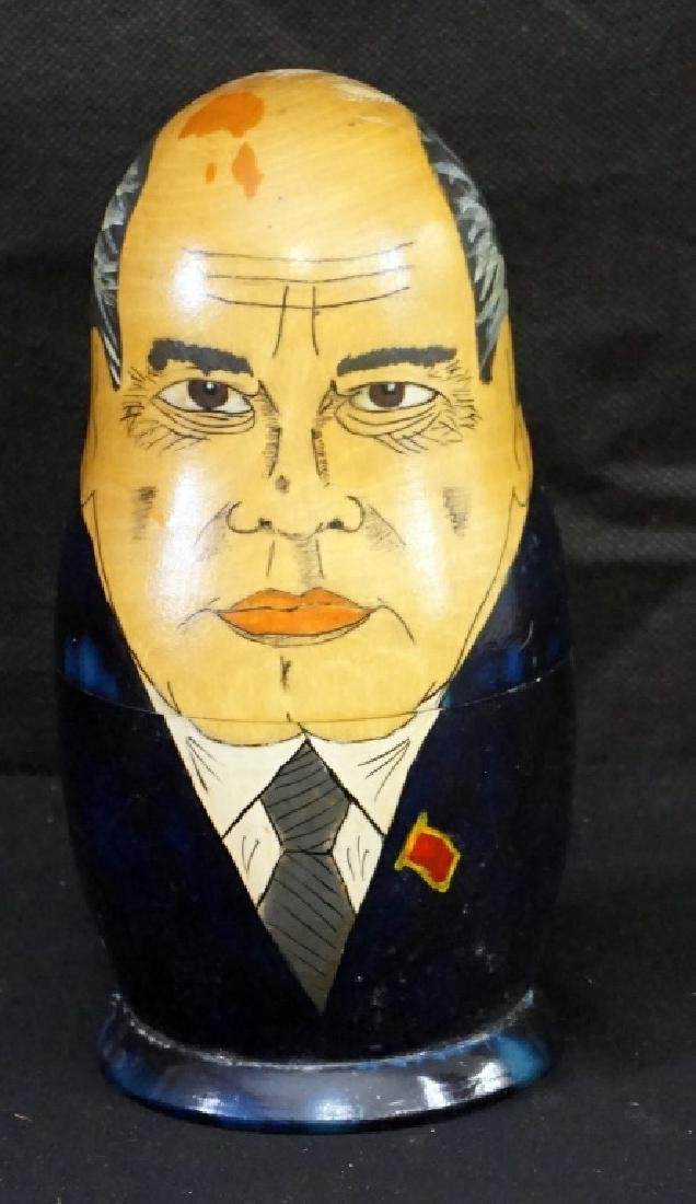 Russian Soviet USSR Leaders Nesting Dolls Set of 5 - 2