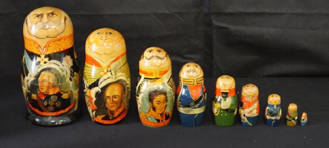 Russian Nesting Dolls Set of 9