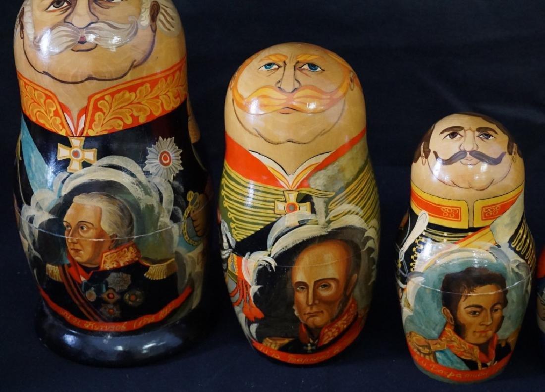 Russian Nesting Dolls Set of 9 - 3