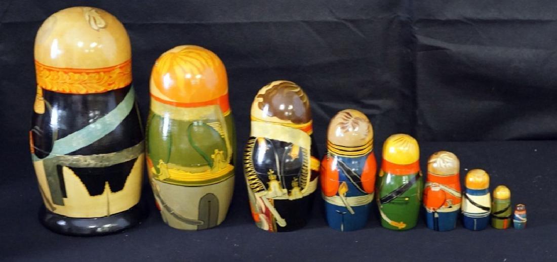 Russian Nesting Dolls Set of 9 - 4