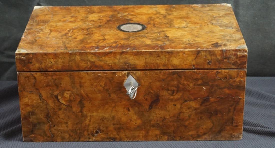 Antique Wood Jewel & Lock Boxes (2) - 2
